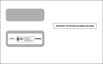 1099 Envelope for 2up 1099MISC, DIV, R - ZBP Forms