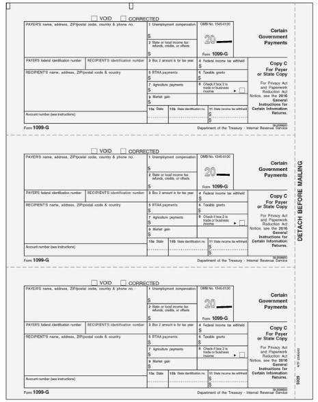 1099 G Form Copy C State Zbp Forms