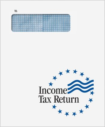 Tax Return Envelopes with 1040 Window for mailing client tax returns - CLNT9F - ZBPForms.com