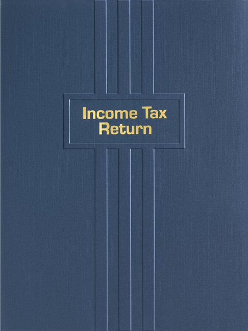 Tax Return Folder with gold foil stamping and embossed lines EFL10NV - ZBP Forms