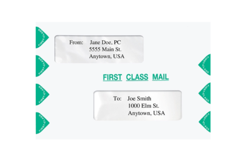 First Class Mail Envelope with 2 Windows, 6x9 size. Compatible with Proseries and TaxWise ENV300 PEC03 PECS3 - ZBP Forms