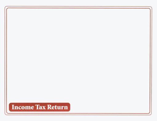 Income Tax Return Envelope 10x13 Burgundy ENV310 - ZBP Forms