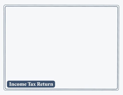 Income Tax Return Envelope 10x13 Blue ENV510 - ZBP Forms
