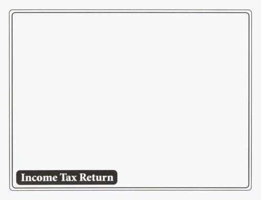 Income Tax Return Envelope 10x13 Black ENV610 - ZBP Forms