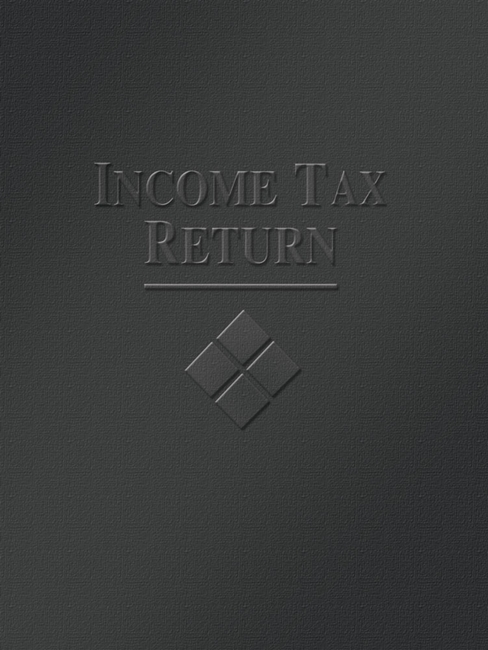 Tax Folder Embossed with Income Tax Return and Design for Accountants and CPAs, Black FBK05 - ZBP Forms