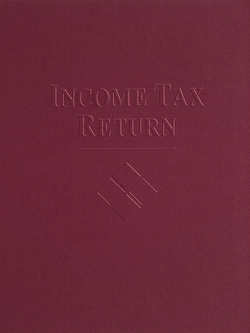 Tax Folder Embossed with Income Tax Return and Design for Accountants and CPAs, Black FBU55 - ZBP Forms