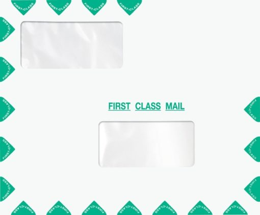 First Class Envelope with 2 Windows, Landscape Format. Compatible with ProSeries PED30-ENV400 - ZBP Forms