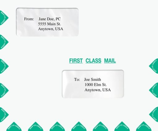 First Class Mail Envelope Double Windows PEG33 PEF32 - ZBP Forms