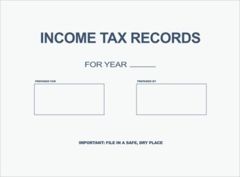 Income Tax Records Envelope for delivering tax returns to clients in a very affordable way PEI09 - ZBP Forms
