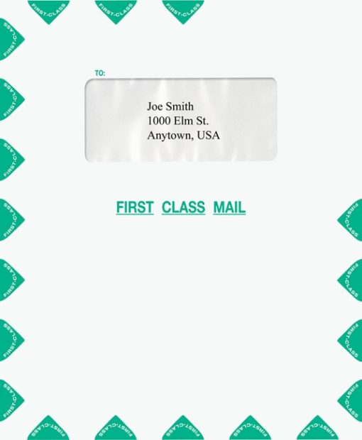 Single Window First Class Mail Envelope, Green PEI35 - ZBP Forms