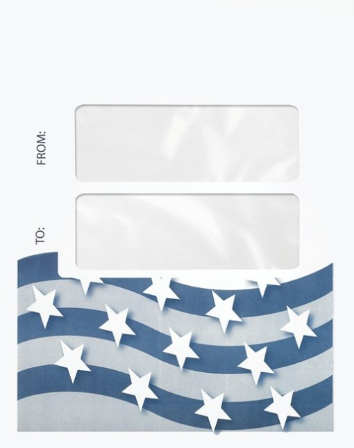 Stars and Stripes Tax Envelope with 2 Windows to display mailing address from a cover sheet PEN40 - ZBP Forms