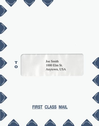 First Class Envelope Center Single Window PEP42 PEL38 - ZBP Forms