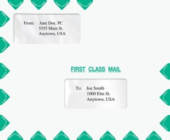 First Class Mail Envelope Landscape format with 2 windows 9.5 x 11.5. Also compatible with TaxWise software. PER18 - ZBP Forms