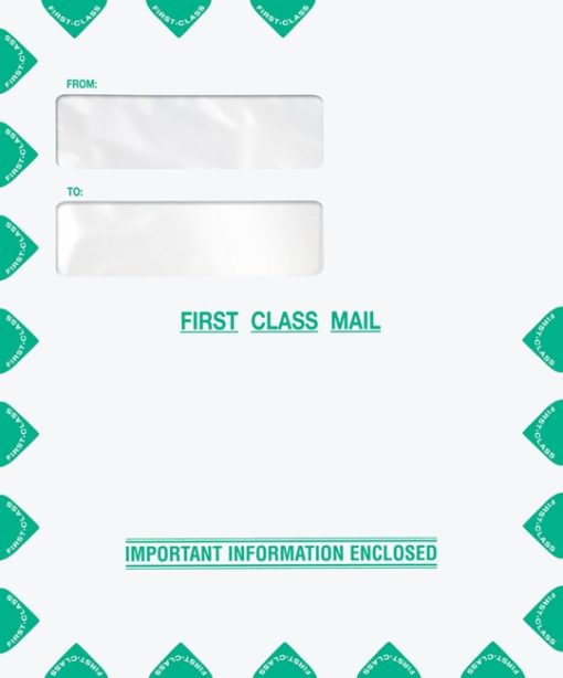 First Class Mail Envelope 9x12 with Top Double Window PEU21 PEL12 - ZBP Forms