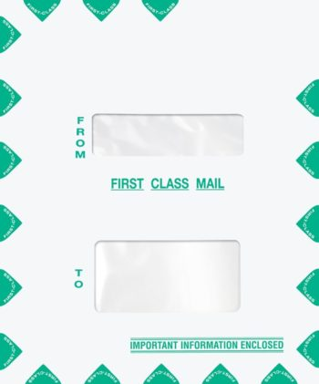First Class Mail Envelope 9.5 x 11.5 Portrait Style with 2 Windows PEZ52 - ZBP Forms