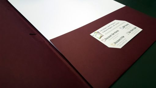 Pocket tax folders with business card diecut and 2 windows for slipsheets - ZBPForms.com