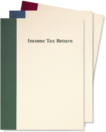 Prestigious Tax Return Folders with Pockets, Linen Paper with Blue, Green or Burgundy Accent - ZBPforms.com