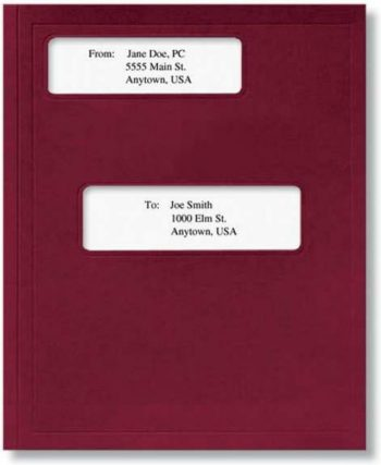 Creative Solutions UltraTax compatible folders with alternate windows and 2 pockets - ZBPforms.com