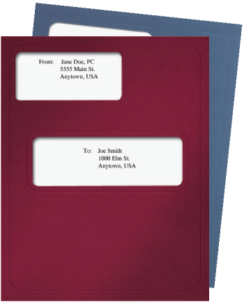 CCH Prosystem Tax Folders with Windows in Burgundy Red - ZBPForms.com