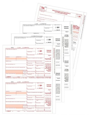 Form 1099INT Set for Payers and Recipients - ZBPforms.com