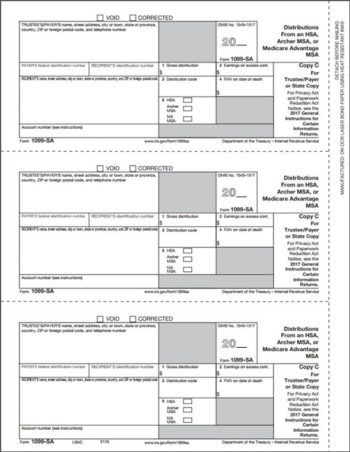 1099SA Form, Copy C for trustee, payer or state - ZBPForms.com