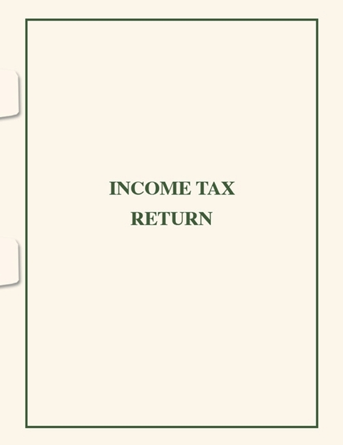 Income Tax Return Folder with Side Staple Tabs SFS03 - ZBP Forms