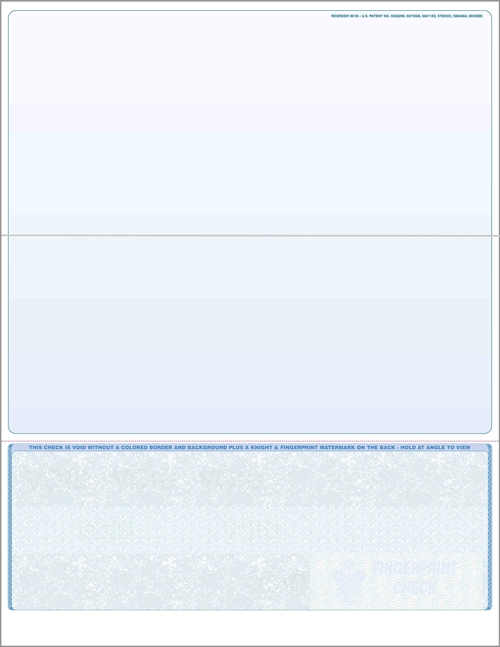 Blank check stock, bottom checks in blue. High security check stock at affordable prices - ZBP Forms