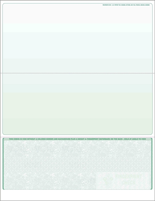 Blank check stock, bottom checks in green. High security check stock at affordable prices - ZBP Forms