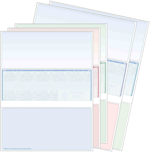 Blank check stock, bottom checks. High security check stock at affordable prices - ZBP Forms