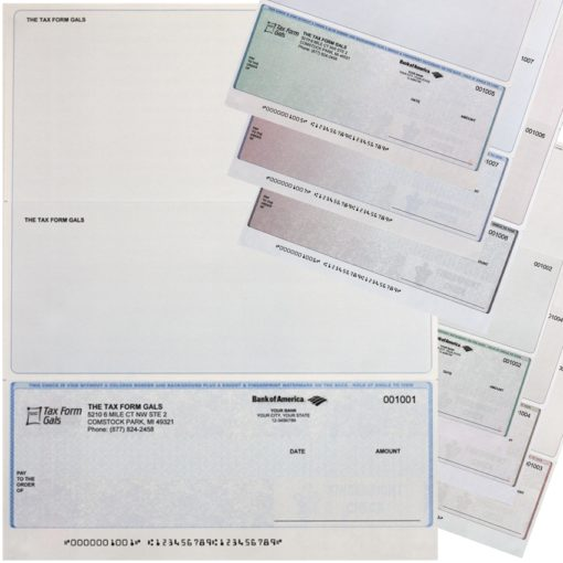 Business Checks at Bottom Position, with Logos and High-Security Features at Low Prices - ZBPForms.com
