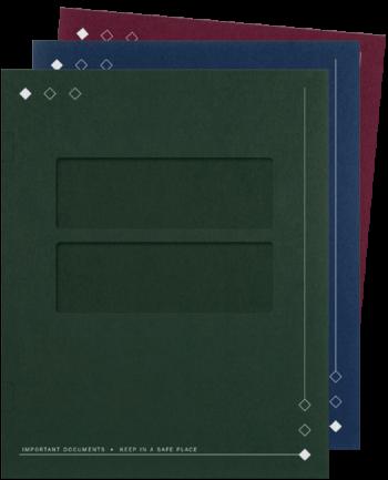 Window Tax Folders with Diamonds - ZBPforms.com