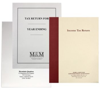 Customized Expanding Tax Return Folders with Logos and More in Many Styles - ZBP Forms