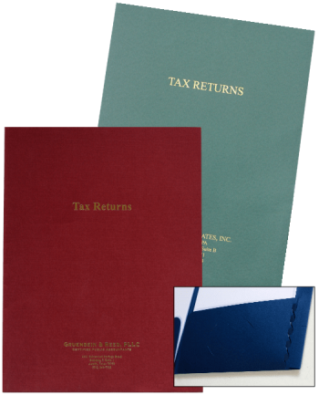 Expanding Pocket Tax Return Folders with Foil Stamping - Personalize With Logos and More - ZBPForms.com