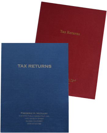 Customized Tax Return Folders with Foil Stamping - ZBP Forms