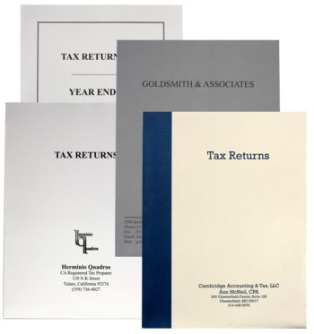 Custom Printed Tax Folders with Logos and More in Many Colors of Ink and Paper - ZBP Forms