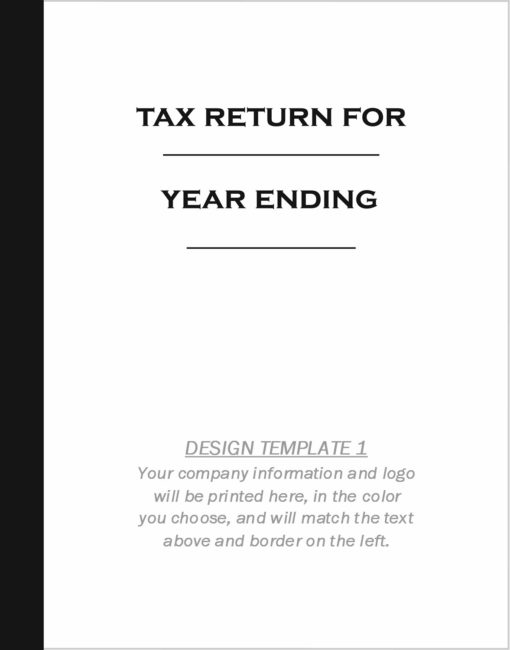 Custom tax folder design template 1 - ZBPForms.com