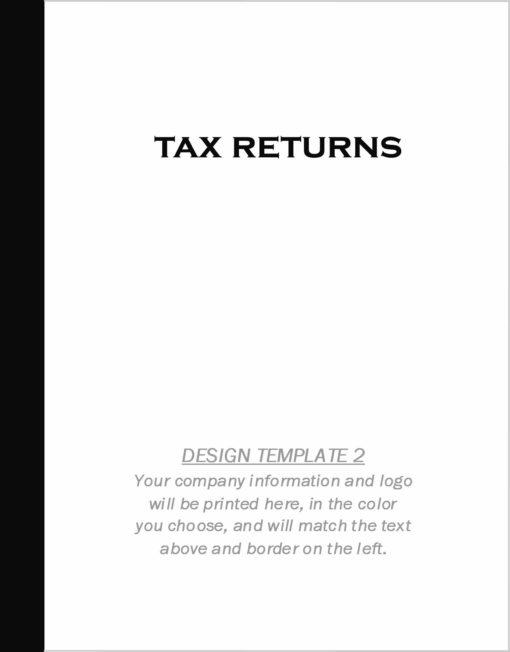 Custom Tax Folder Design Template 2 - ZBPForms.com