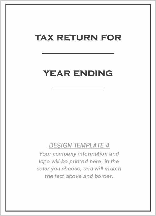 Custom Tax Folder Design Template 4 - ZBPForms.com