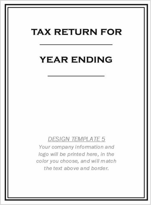 Custom Tax Folder Design Template 5 - ZBPForms.com