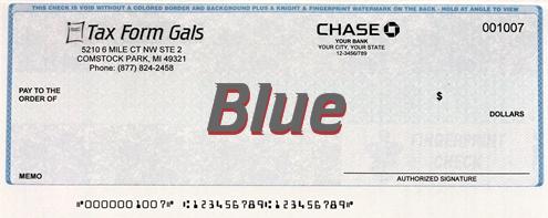 Business Checks Blue Color - ZBPForms.com