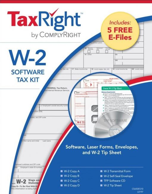 W-2 Software, Efiling, Forms and Envelopes Kit - ZBPforms.com