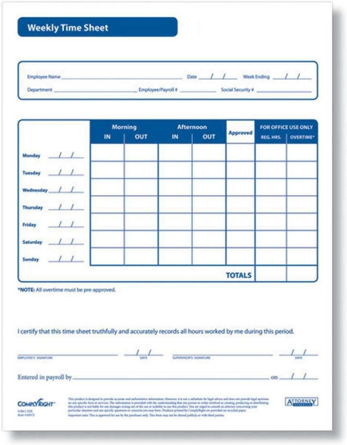 weekly timesheet forms zbp forms