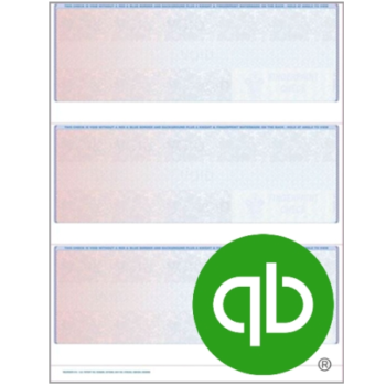 3up Blank Checks for QuickBooks Intuit Software - ZBPForms.com