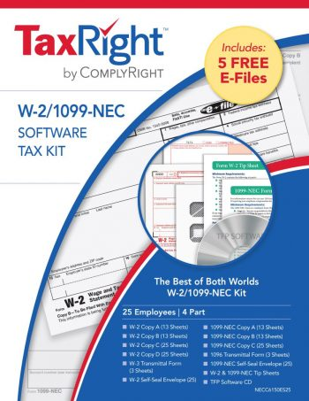 1099 & W2 Software, Efiling and Forms Kit with Envelopes - ZBPforms.com