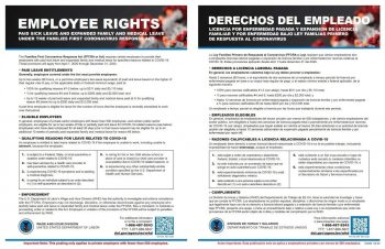 Employee Rights Poster COVID19 Coronavirus - ZBPforms.com
