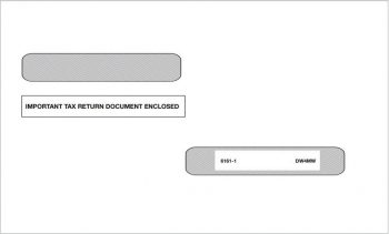 """4up 1099R Envelopes with Moisture Seal Flap, """"Important Tax Return Documents Enclosed"""" with Security Tint - ZBPforms.com"""