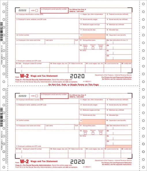W2 Continuous Carbonless Forms for Employers - ZBPforms.com