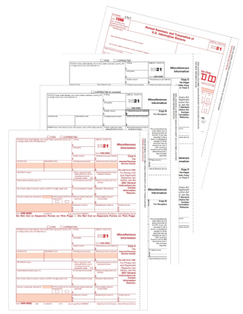 Form 1099MISC Set for Payers and Recipients - ZBPforms.com