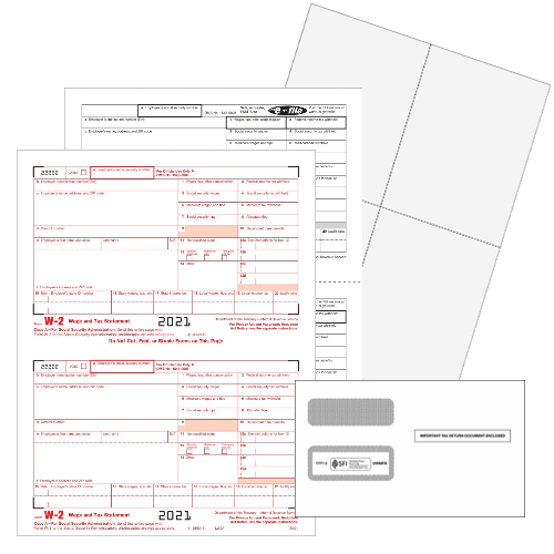 W2 Form Sets with Official W2 forms or Blank Perforated Paper in 2up, 3up and 4up formats - ZBPforms.com