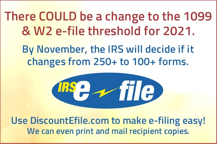 1099 & W2 Efiling Requirements 2021 - DiscountTaxForms.com